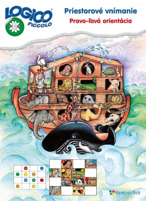 Obálka knihy  LOGICO Piccolo PRIESTOROVÉ VNÍMANIE - Pravo-ľavá orientácia